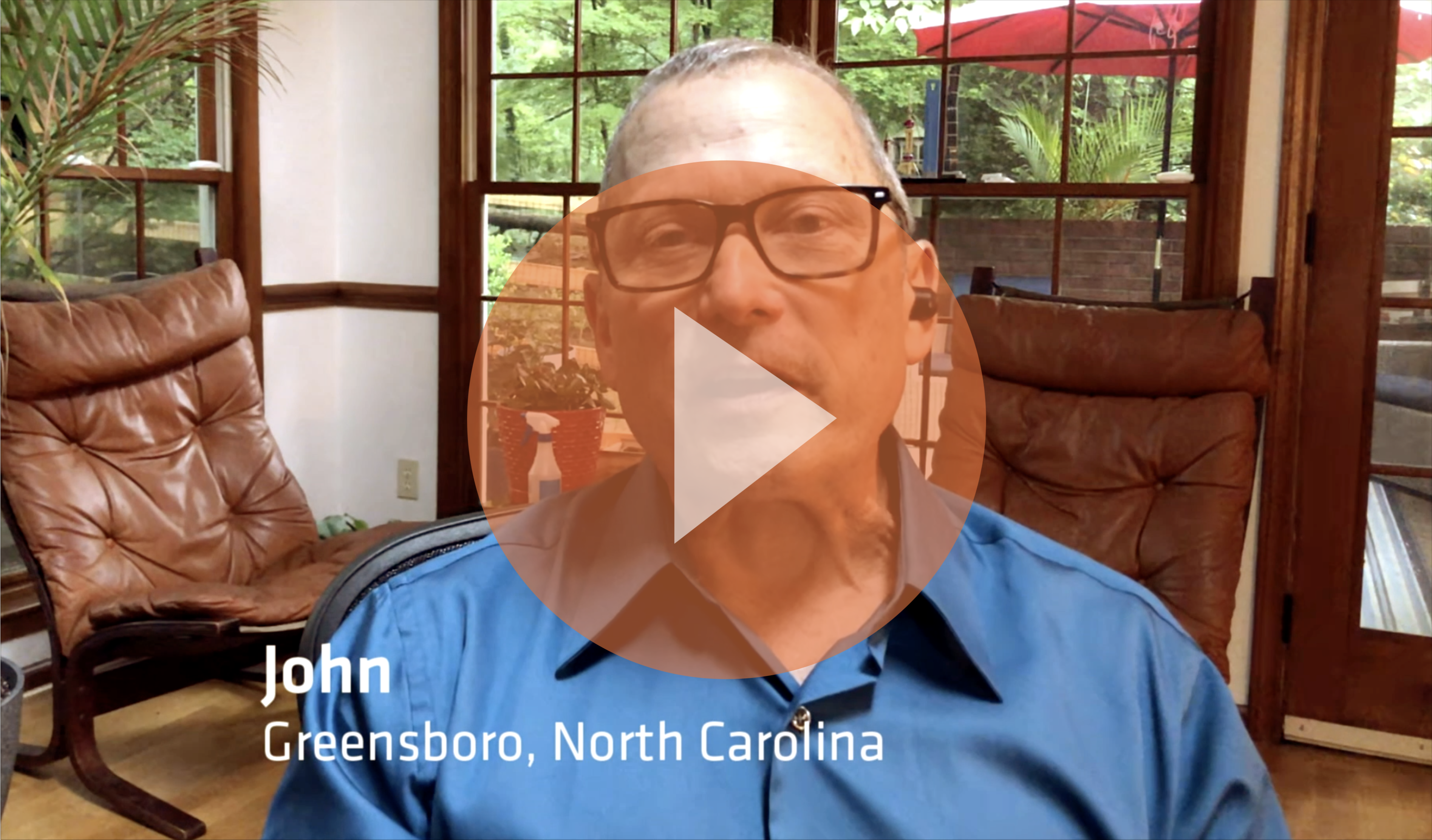 Watch this video to learn more about John's advanced non-small cell lung cancer diagnosis story